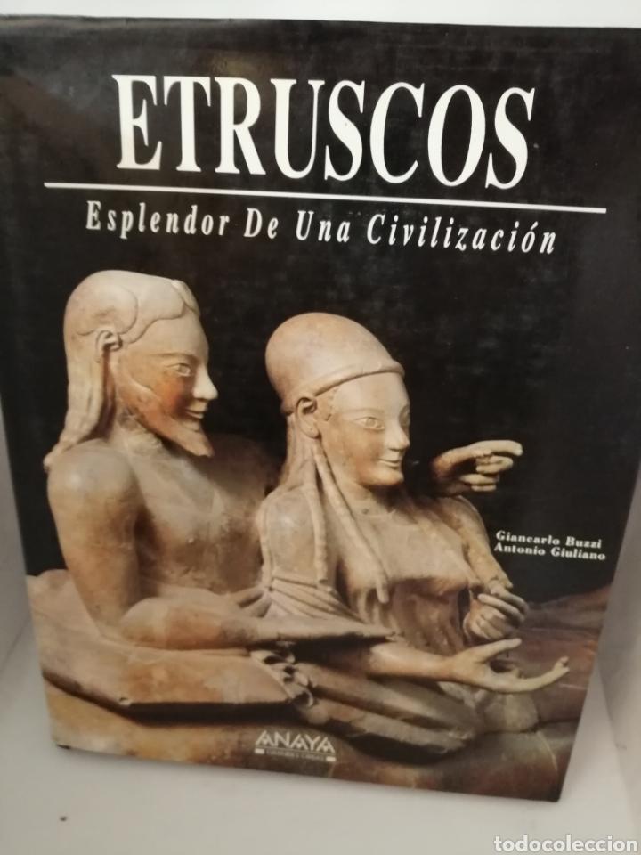 ETRUSCOS, ESPLENDOR DE UNA CIVILIZACIÓN: FRESCOS, OROS, BRONCES, VASOS (Libros de Segunda Mano - Historia Antigua)