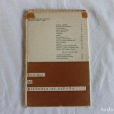 Libros de segunda mano: FICHAS CRONOLÓGICO-SINOPTICAS PARA FACILITAR EL ESTUDIO. RESUMEN DE HISTORIA DE ESPAÑA. Lote 208979630