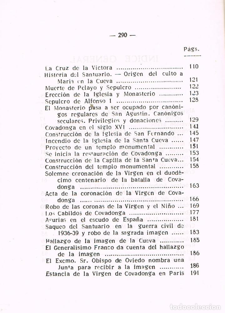 Libros de segunda mano: Historia de Covadonga e historia del santuario (por Luciano López G. José) - Foto 3 - 209937082