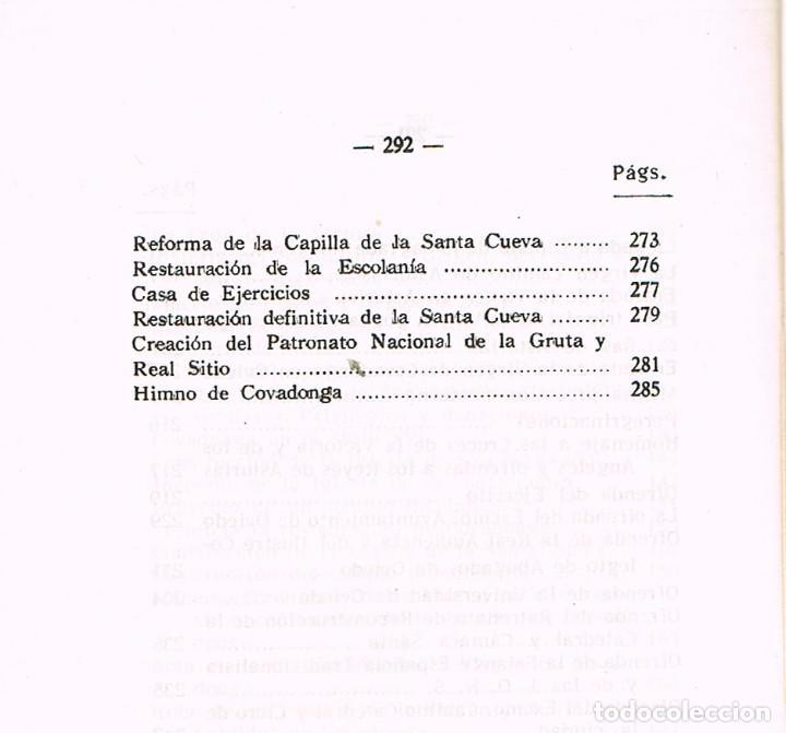 Libros de segunda mano: Historia de Covadonga e historia del santuario (por Luciano López G. José) - Foto 5 - 209937082