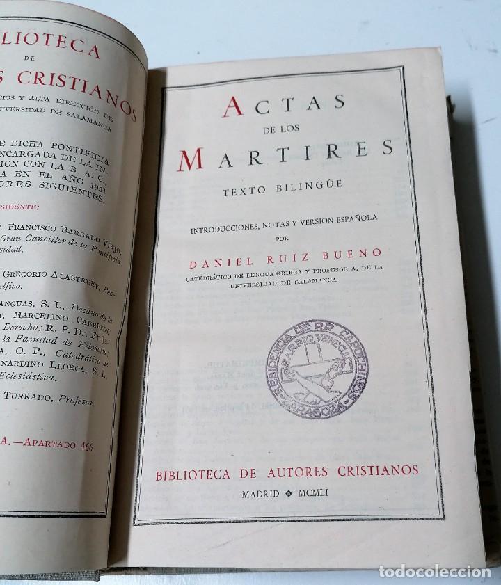 Libros de segunda mano: Daniel Ruiz Bueno, Actas de los mártires, Biblioteca de Autores Cristianos, 1951 - Foto 3 - 210383963