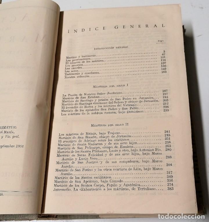 Libros de segunda mano: Daniel Ruiz Bueno, Actas de los mártires, Biblioteca de Autores Cristianos, 1951 - Foto 4 - 210383963