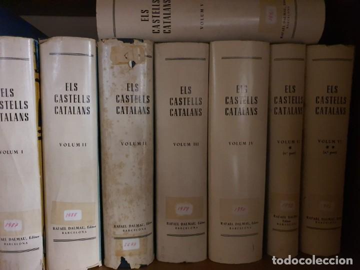 ELS CASTELLS CATALANS, COLECCIÓN COMPLETA DE 7 TOMOS. EDICIÓN DE 1967 DE RAFAEL DALMAU (Libros de Segunda Mano - Historia Antigua)