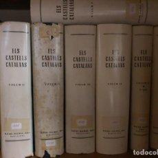 Libros de segunda mano: ELS CASTELLS CATALANS, COLECCIÓN COMPLETA DE 7 TOMOS. EDICIÓN DE 1967 DE RAFAEL DALMAU. Lote 210394932