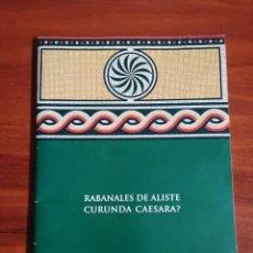 Libros de segunda mano: RABANALES DE ALISTE ZAMORA CURUNDA CAESAREA?. Lote 211561020