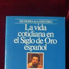 Libros de segunda mano: LA VIDA COTIDIANA EN EL SIGLO DE ORO ESPAÑOL - NÉSTOR LUJÁN - PLANETA 1994. Lote 211704776