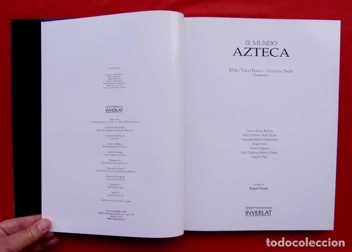 Libros de segunda mano: EL MUNDO AZTECA. 1ª EDICIÓN. AÑO: 1994. MÉXICO. ÚNICO EN TC. BUEN ESTADO. - Foto 4 - 211721914