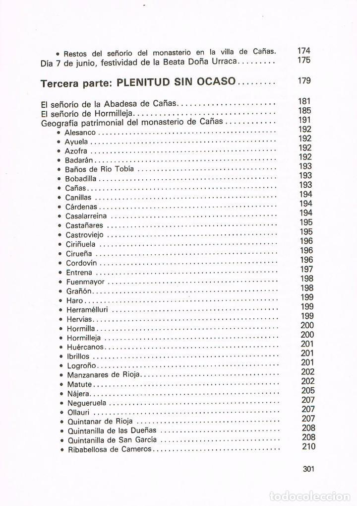 Libros de segunda mano: Real Monasterio de Cañas. Nueve siglos de fidelidad, Ver indice - Foto 6 - 212592380