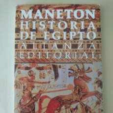 Libros de segunda mano: HISTORIA DE EGIPTO. MANETON. Lote 213695538