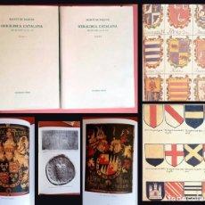 Libros de segunda mano: HERALDICA CATALANA - DES DE L'ANY 1150 AL 1550 - 2 VOLUM. COMPLETA - MARTI DE RIQUER. Lote 214597616