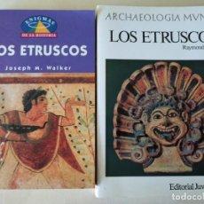 Libros de segunda mano: ETRUSCOS- WALKER + ETRUSCOS - BLOCH. Lote 215914147