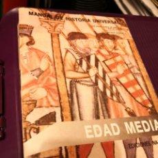Libros de segunda mano: MANUAL DE HISTORIA UNIVERSAL V EDAD MEDIA EDICIONES NÁJERA. Lote 217748272
