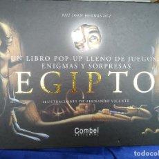 Libros de segunda mano: EGIPTO. UN LIBRO POP-UP LLENO DE JUEGOS, ENIGMAS Y SORPRESAS. Lote 218288271