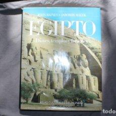 Libros de segunda mano: EGIPTO. DIOSES, TEMPLOS Y FARAONES. JOHN BAINES Y JAROMÍR MÁLEK.. Lote 220738955