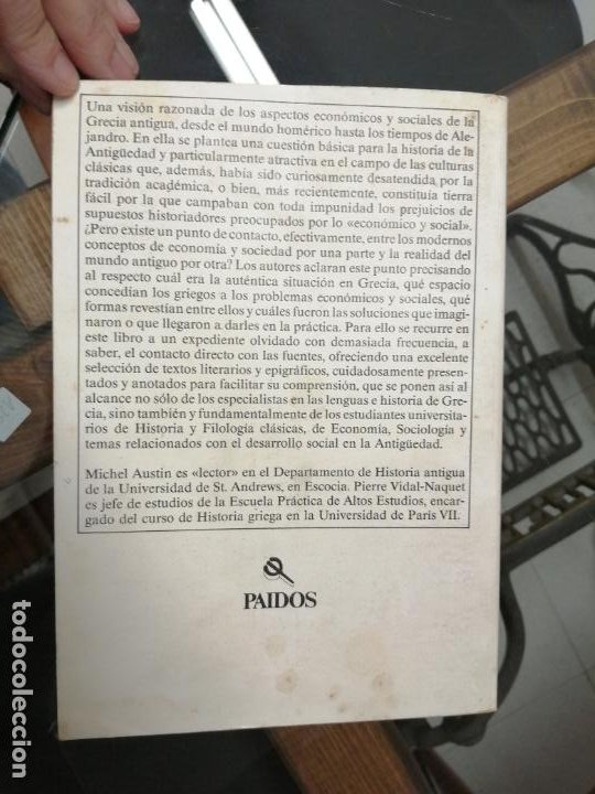 Libros de segunda mano: ECONOMÍA Y SOCIEDAD EN LA ANTIGUA GRECIA. M.AUSTIN Y P. VIDAL-NAQUET. - Foto 5 - 222057772