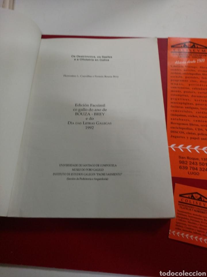 Libros de segunda mano: Os Oestrimnios,os Saefes e a Ofiolatria en Galiza . Florentino Cuevillas e Fermín Bouza Brey .Ed fas - Foto 2 - 222120926