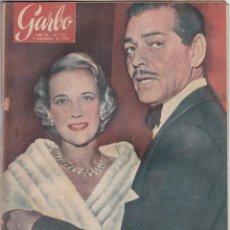 Libros de segunda mano: REVISTA GARBO AÑO 1955 -Nº 129 LOS AMORES DE CLARK GABLE. Lote 222855085