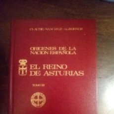 Libros de segunda mano: CLAUDIO SÁNCHEZ-ALBORNOZ. ORÍGENES DE LA NACIÓN ESPAÑOLA. EL REINO DE ASTURIAS. TOMO III. Lote 294130323