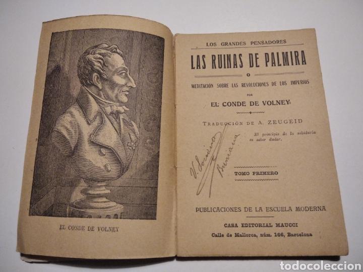 Libros de segunda mano: Libro Antiguo las ruinas de Palmira tomo I - Foto 3 - 224761953