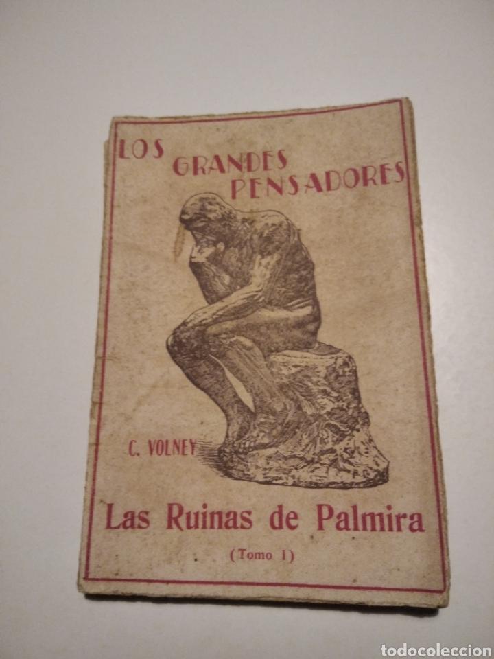 LIBRO ANTIGUO LAS RUINAS DE PALMIRA TOMO I (Libros de Segunda Mano - Historia Antigua)