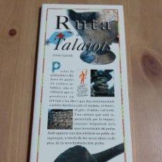 Libros de segunda mano: RUTA DELS TALAIOTS (CARLOS GARRIDO) EL DIA DEL MUNDO. Lote 226159935