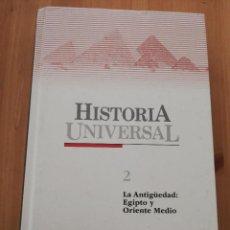 Libros de segunda mano: HISTORIA UNIVERSAL TOMO 2. LA ANTIGÜEDAD: EGIPTO Y ORIENTE MEDIO (SALVAT / EL PAIS). Lote 226275885