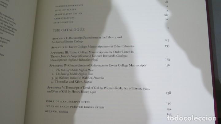 Libros de segunda mano: A DESCRIPTIVE CATALOGUE OF THE MEDIEVAL MANUSCRIPTS OF EXETER COLLEGE OXFOR. WATSON - Foto 2 - 227092100