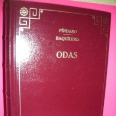 Libros de segunda mano: ODAS - PINDARO / BAQUILIDES - EDITORIAL GREDOS 2006. Lote 228549050