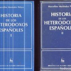 Libros de segunda mano: HISTORIA DE LOS HETERODOXOS ESPAÑOLES. TOMOS I Y II. MARCELINO MENÉNDEZ PELAYO. T-I: 968.1998/87.. Lote 228925180