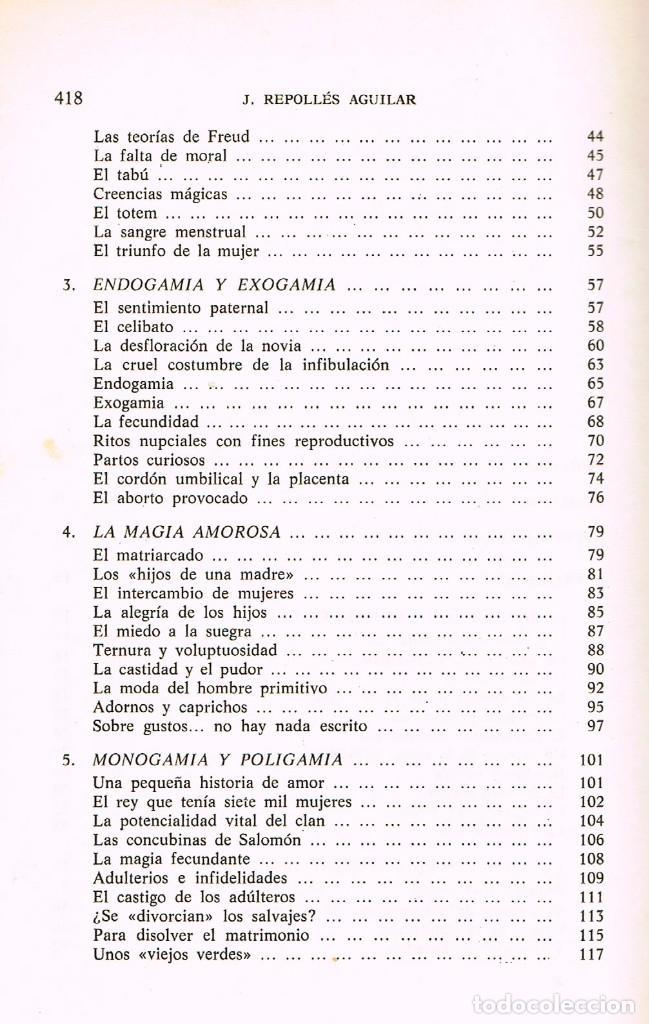 Libros de segunda mano: El amor en los pueblos primitivos (José Repolles Aguilar) - Foto 3 - 229197340