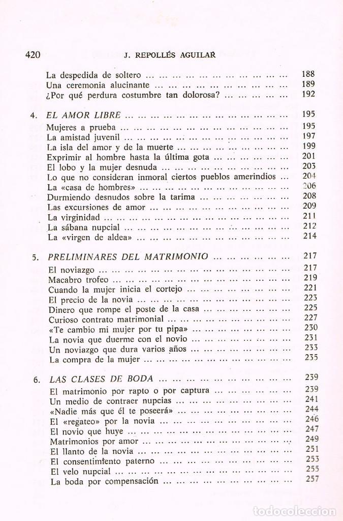 Libros de segunda mano: El amor en los pueblos primitivos (José Repolles Aguilar) - Foto 5 - 229197340