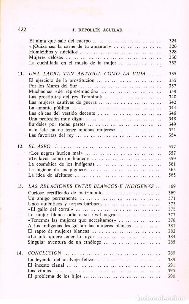 Libros de segunda mano: El amor en los pueblos primitivos (José Repolles Aguilar) - Foto 7 - 229197340