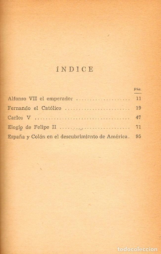Libros de segunda mano: Figurasd imperiales (Ballesteros Beretta), ver indice, reencuadernado en piel - Foto 2 - 230515975