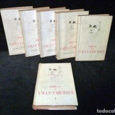 Libros de segunda mano: OBRAS DE VALLS - TABERNER. COMPLETA 6 VOLUMENES. C.S.I.C. 1952-61. DESCATALOGADA. Lote 231771080