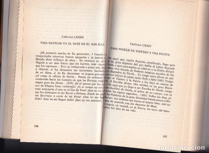 Libros de segunda mano: EL LIBRO DE LOS MUERTOS - CONJUROS MILENARIOS EGIPCIOS - 1991 - Foto 2 - 233767500