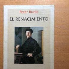 Libros de segunda mano: EL RENACIMIENTO. PETER BURKE EDITORIAL CRÍTICA. HISTORIA. ARTE. CIENCIA.. Lote 236645085