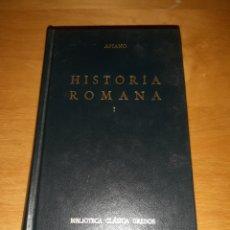 Libros de segunda mano: HISTORIA ROMANA I. APIANO. BIBLIOTECA CLÁSICA GREDOS. Lote 236703130
