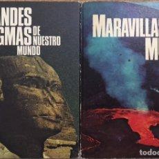 Libros de segunda mano: LOTE 2 LIBROS GRANDES ENIGMAS DE NUESTRO MUNDO - MARAVILLAS DEL MUNDO - ROLAND GOOCK - HISTORIA. Lote 179192261