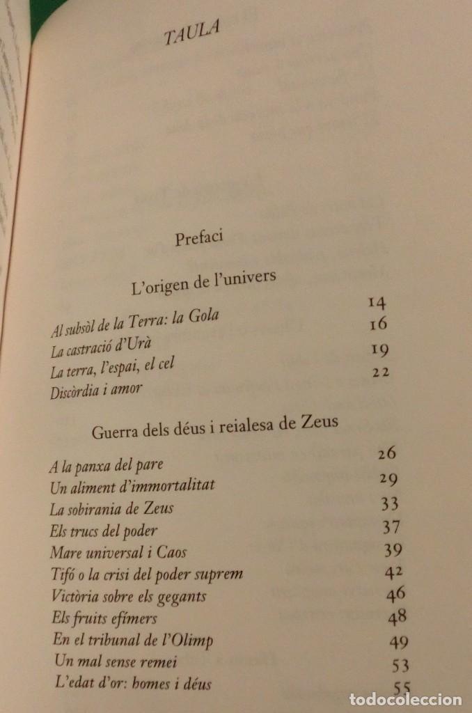 Libros de segunda mano: L´UNIVERS, ELS DÉUS, ELS HOMES - JEAN-PIERRE VERNANT / MITOLOGIA GREGA I ROMANA [DESCATALOGAT] - Foto 9 - 240758840