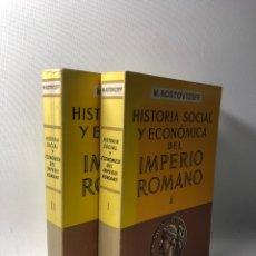 Libros de segunda mano: HISTORIA SOCIAL Y ECONOMICA DEL IMPERIO ROMANO ··· VOL 1 & 2 ··· ESPASA CALPE ··· M. ROSTOVTZEFF ·. Lote 241758000