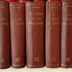 Libros de segunda mano: EL LEGADO 7 VOLUMENES OXFORD: ROMA, EGIPTO, INDIA, EDAD MEDIA, GRECIA, ISLAM Y CHINA, AÑOS 40. Lote 243034710