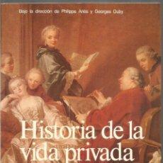 Libros de segunda mano: HISTORIA DE LA VIDA PRIVADA 5. EL PROCESO DE CAMBIO EN LA SOCIEDAD DE LOS SIGLOS XVI-XVIII. TAURUS. Lote 243858205