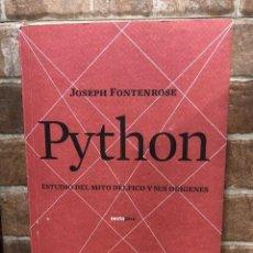 Libros de segunda mano: PYTHON. ESTUDIO DEL MITO DÉLFICO Y SU ORÍGENES.. Lote 245182235