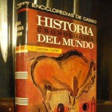 Libros de segunda mano: HISTORIA CRONOLOGICA DEL MUNDO, F. CARDONA CASTRO.. Lote 245184720