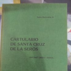Libros de segunda mano: CARTULARIO DE SANTA CRUZ DE LA SERÓS ANTONIO UBIETO ARTETA. Lote 245197690