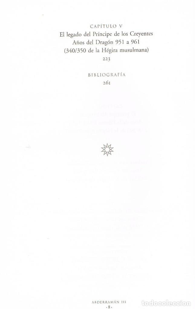 Libros de segunda mano: Abderraman III (Magdalena Lasala). Vder indice - Foto 3 - 245560600