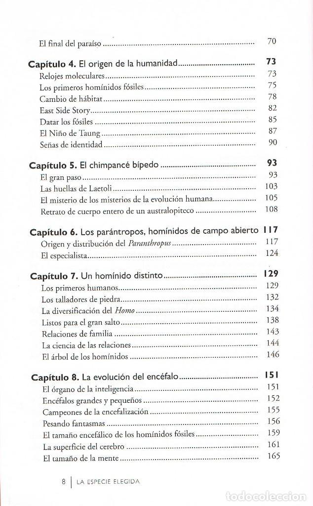 Libros de segunda mano: La especie elegida, la larga marcha de la evolución humana (Juan Luis Arsuaga) proyecto Atapuerca - Foto 3 - 245562800