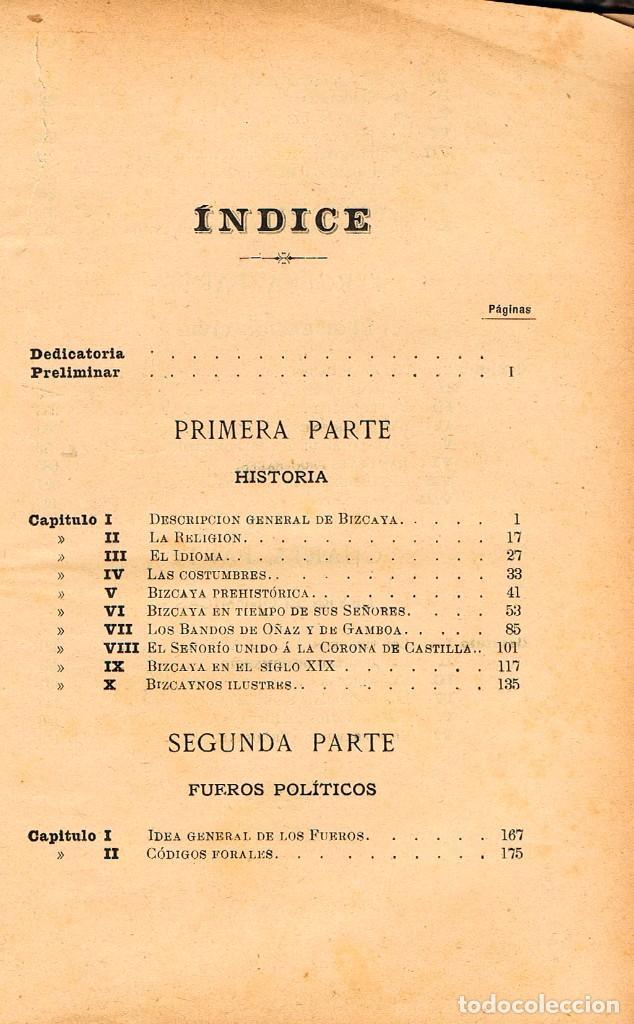 Libros de segunda mano: El señorio de Vizcaya historico y foral por Aristides de Artiñano,año 1885, encuadernación lomo piel - Foto 4 - 245572190