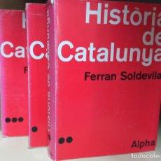 Libros de segunda mano: HISTÒRIA DE CATALUNYA 3 VOL - IDIOMA CATALÁN. Lote 245951860