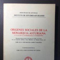 Libros de segunda mano: ORIGINES SOCIALES DE LA MONARQUIA ASTURIANA PEREZ DE CASTRO. Lote 249329030